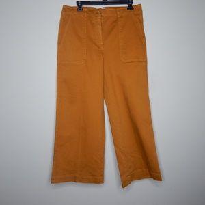 everlane women wide leg pants sz 10 mustard